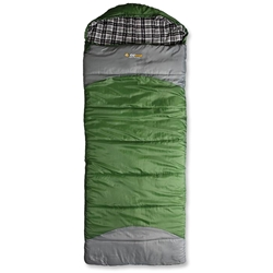 OZtrail Alpine View Mega Hooded Sleeping Bag Green
