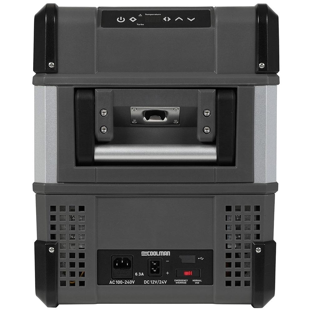 myCOOLMANCCP30 Portable Fridge/Freezer 30L - Control panel, power inlet and USB outlet