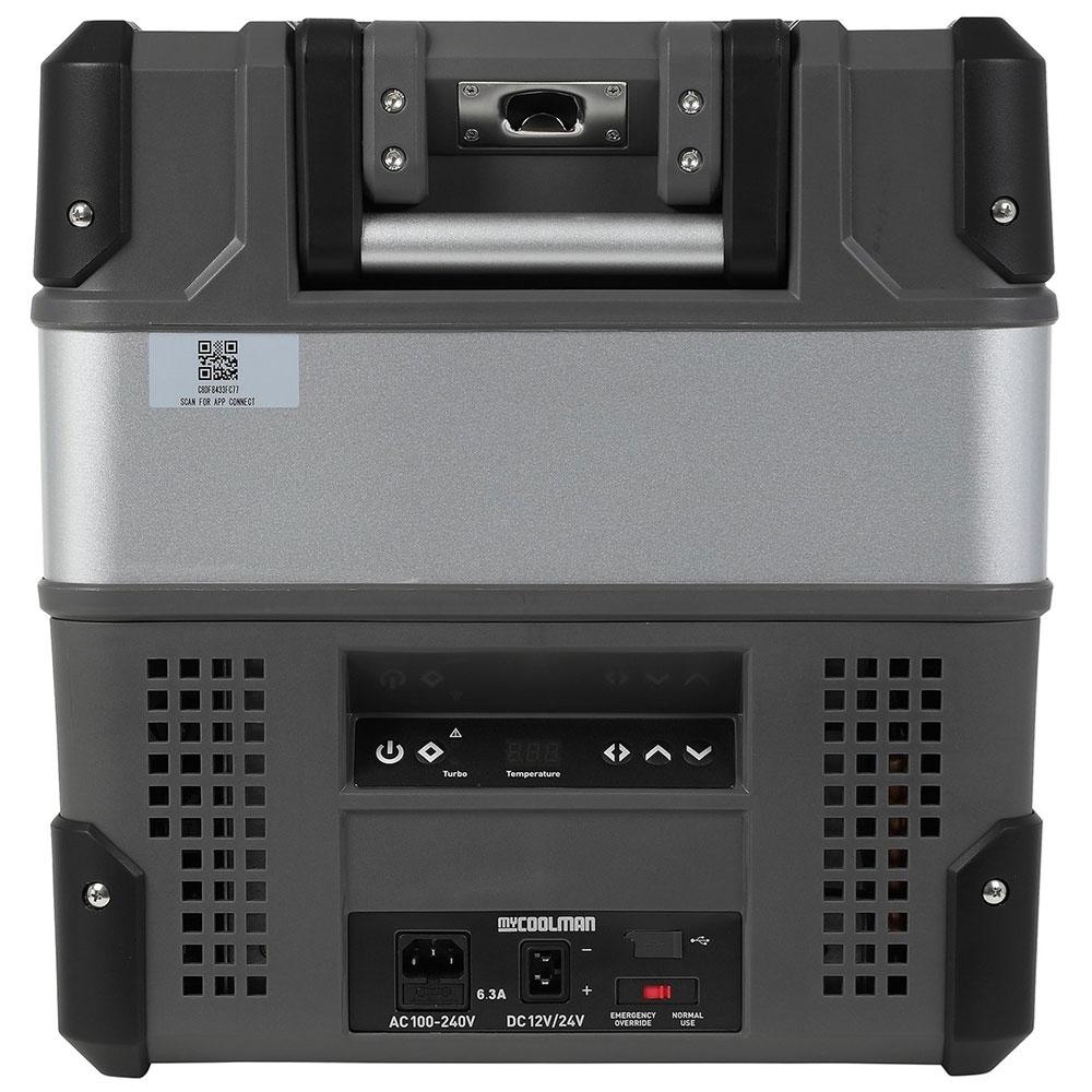 myCOOLMANCCP36 Portable Fridge/Freezer 36L - Control panel, power inlet and USB outlet