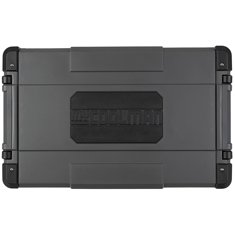 myCOOLMANCCP69DZ Dual Zone Portable Fridge/Freezer 69L - Rugged two-way opening lid with rubber section for grip & comfort