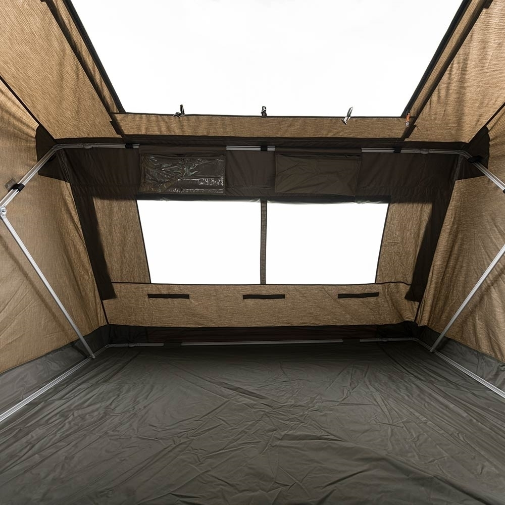 Oztent RV-3 Plus Canvas Touring Tent - Great ventilation with SkyMesh skylight open