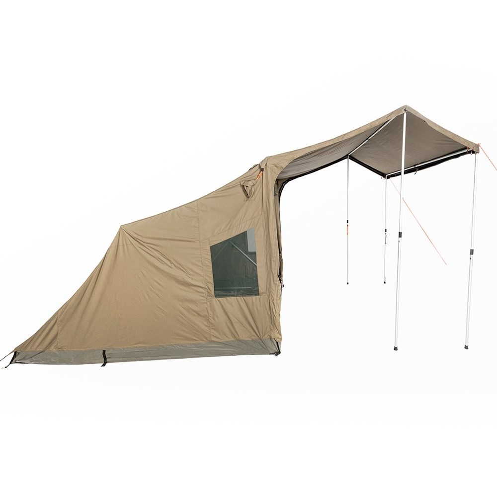 Oztent RV-5 Plus Canvas Touring Tent - More waterproof with curved zip for RV Plus Peaked Side Panels