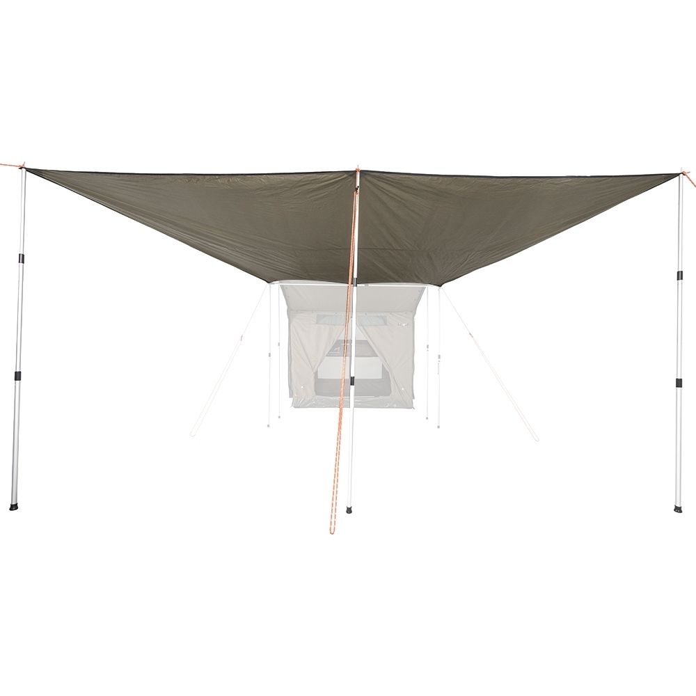 Oztent RV Plus Zip-In Tarp Extension - 3 stage poles and reflective guy ropes included