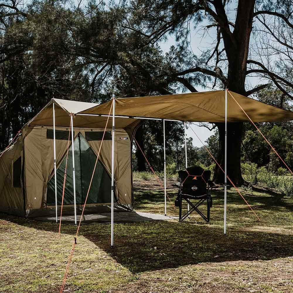 Oztent RV Plus Zip-In Tarp Extension - Easily extend your awning