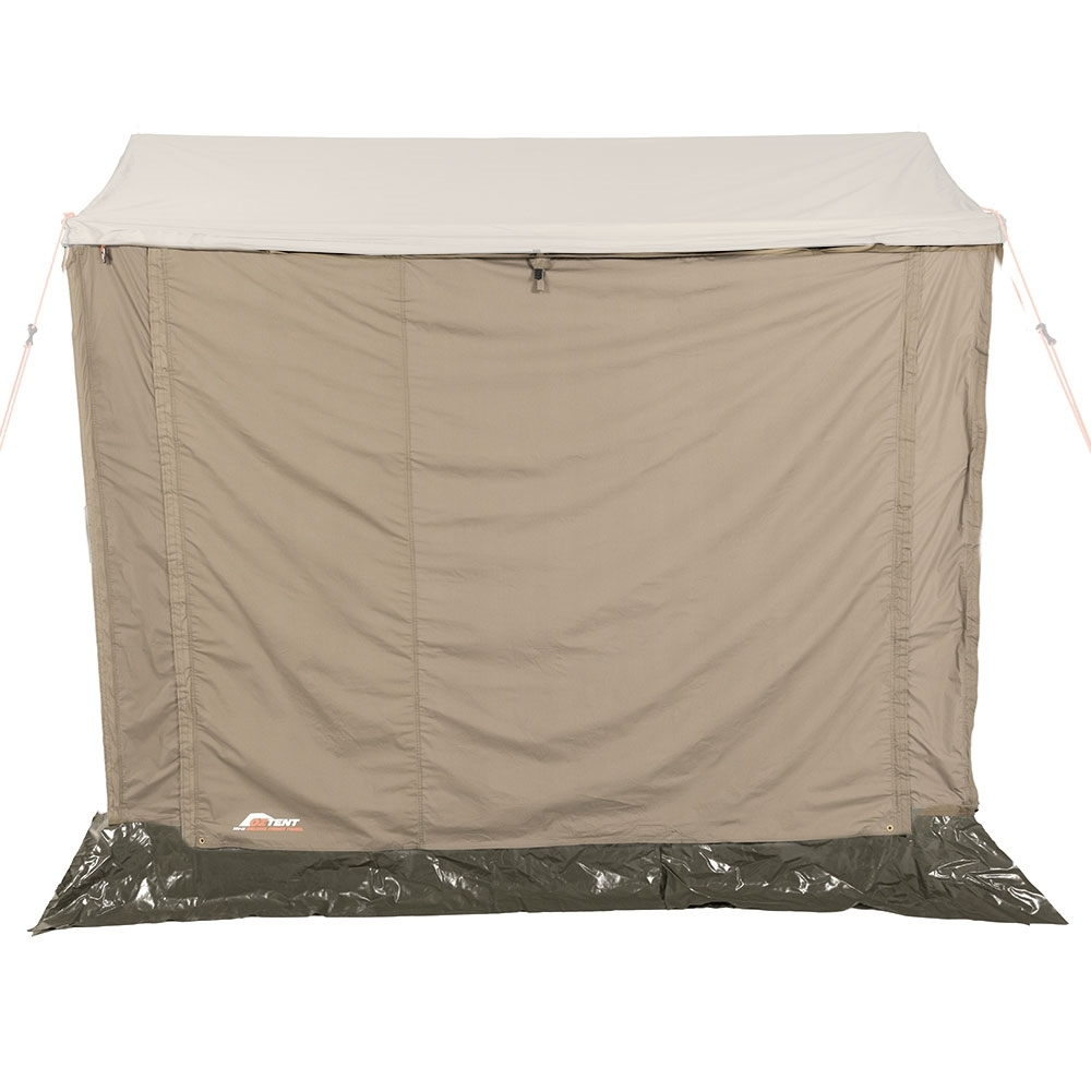 Oztent RV Plus Front Panel - Drop-down zippered canvas panel