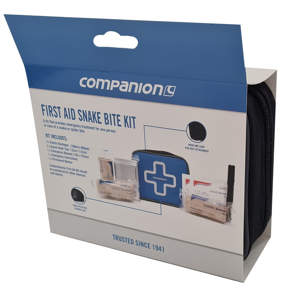 Companion First Aid Snake Bite Kit - Packaging rear