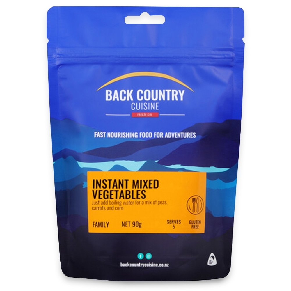 Back Country Cuisine Instant Mixed Vegetables GF 90g