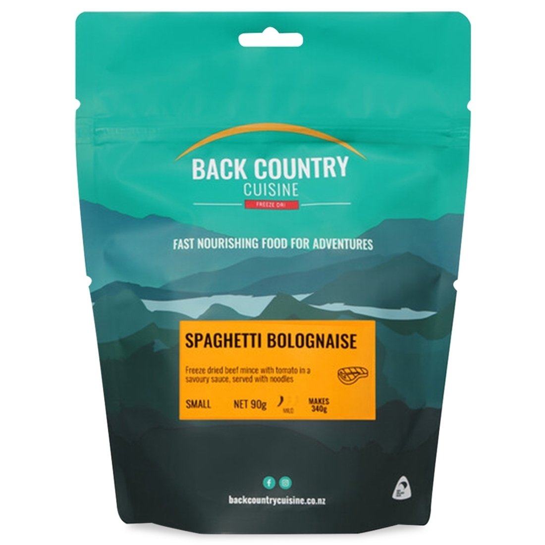 Back Country Cuisine Spaghetti Bolognaise Small Serve 90g