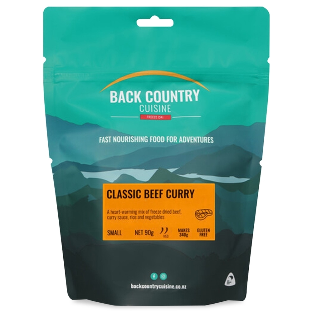 Back Country Cuisine Classic Beef Curry GF Small Serve 90g
