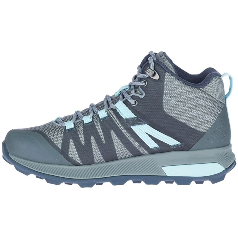 Merrell Zion FST WP Mid Wmn's Boot Storm Canal - Lightweight EVA foam midsole for stability and comfort