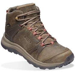 Keen Terradora II Leather WP Mid Wmn's Boot Brindle Redwood