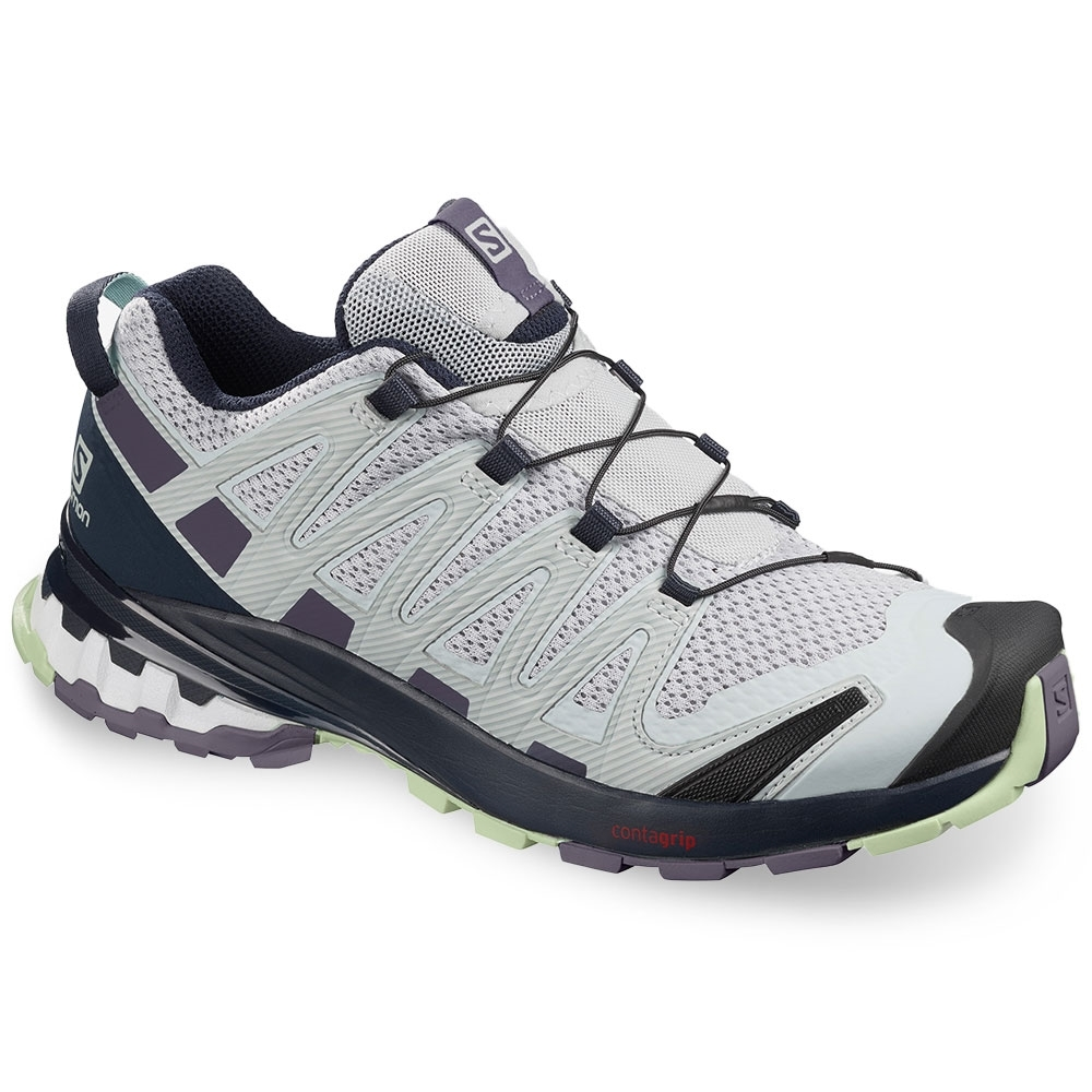 Salomon XA Pro 3D v8 Wmn's Shoe Pearl Blue Sweet Grape Patina Green