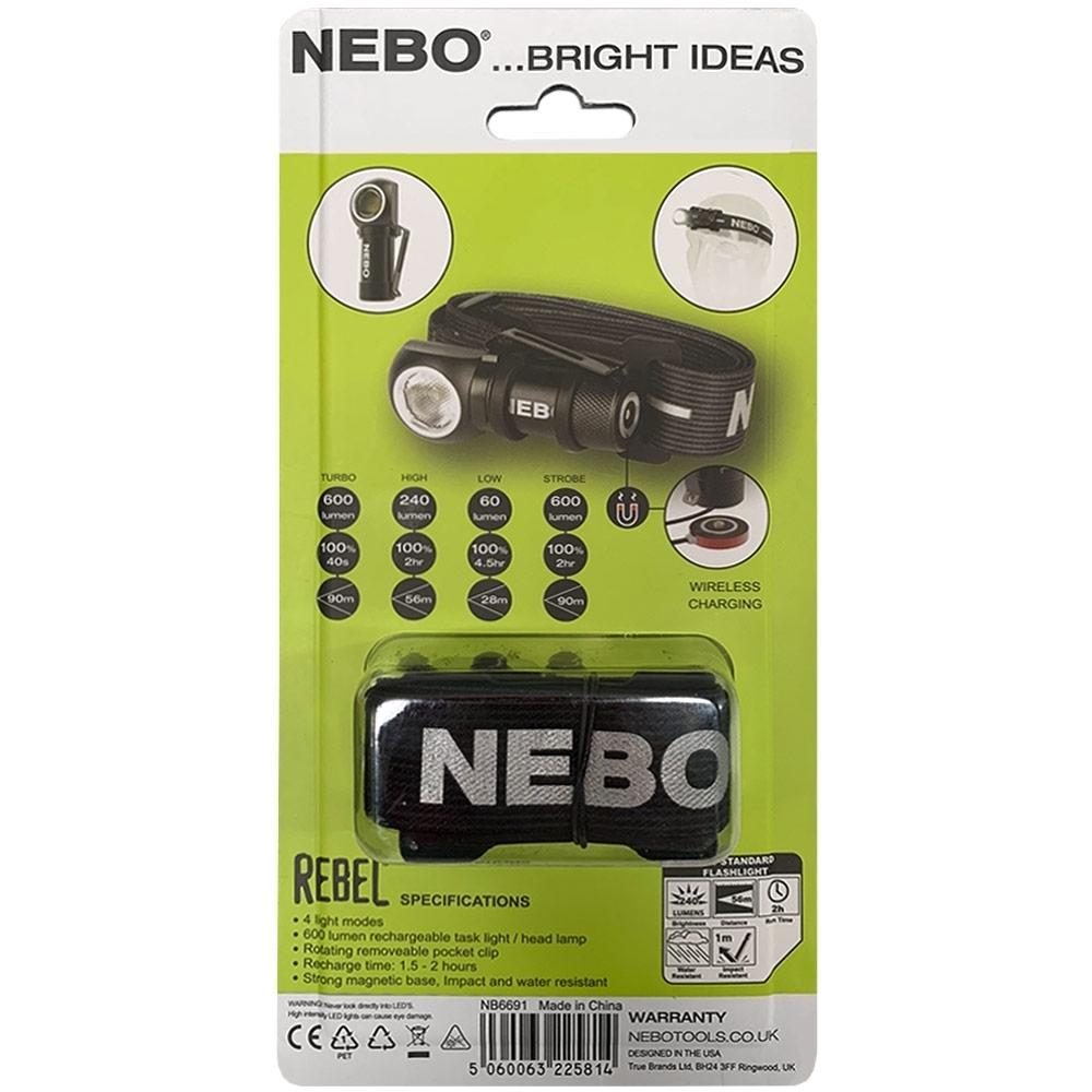 Nebo Rebel Task Light & Headlamp - Packaging