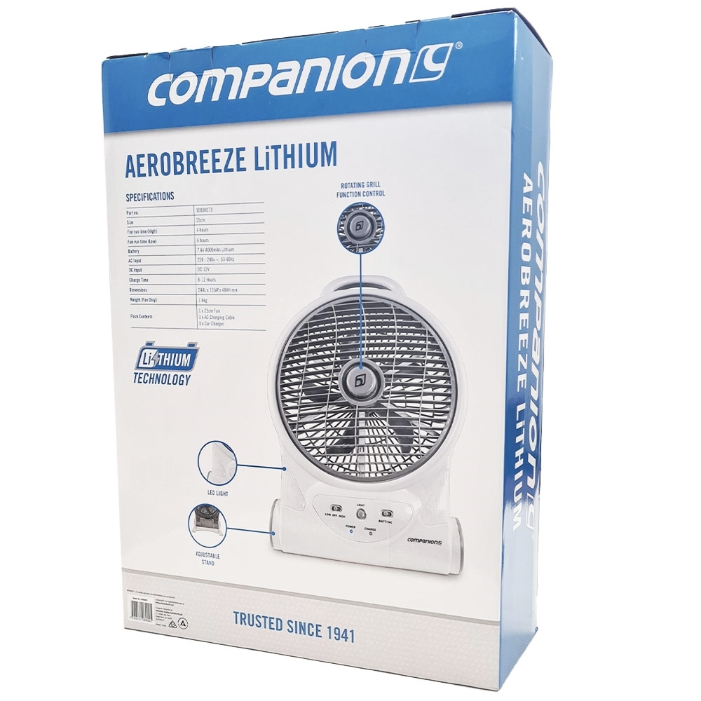 Companion Aero Breeze Fan 25cm - Box