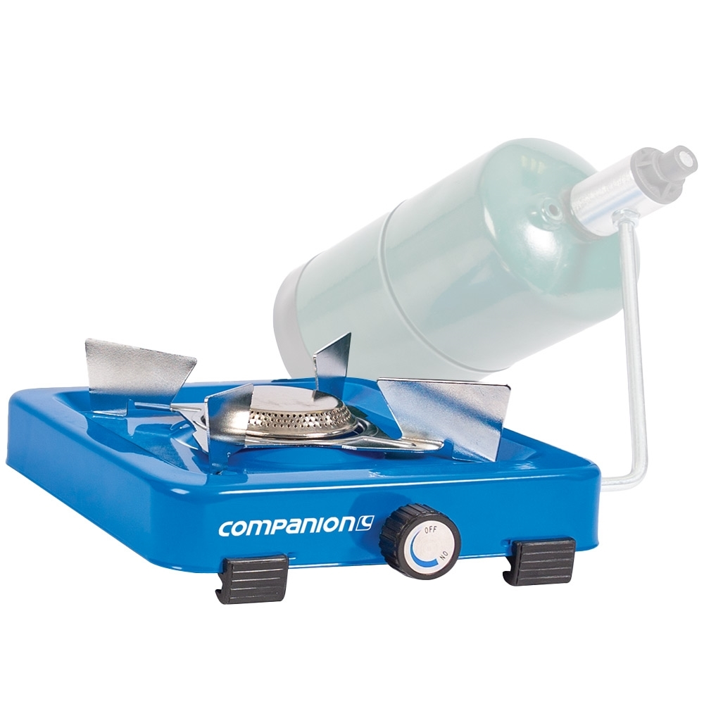 Companion Propane Single Stove - With propane camping gas LPG bottle