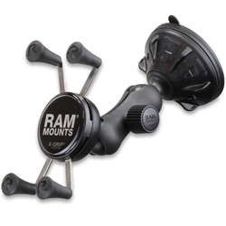 RAM Mounts X-Grip Phone Mount with Twist-Lock Low Profile Suction Base
