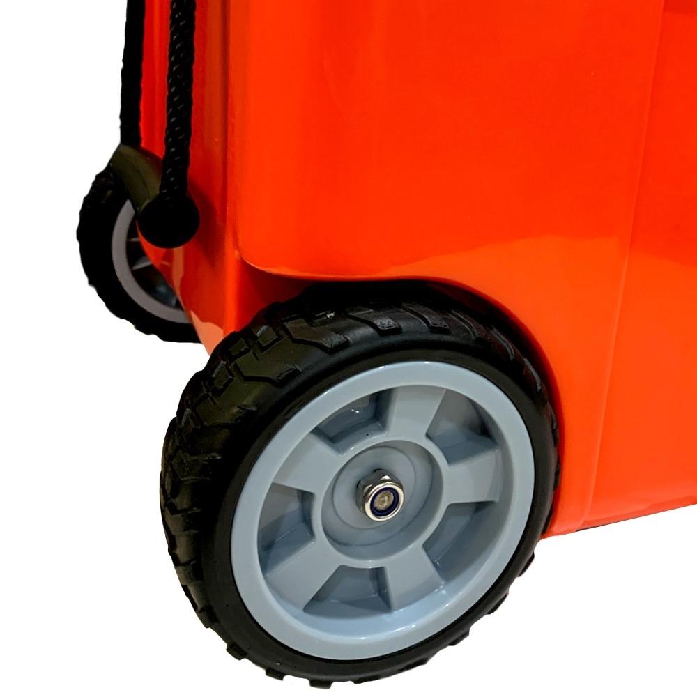 Black Wolf 75 Rolling Cooler - Heavy-duty wheels