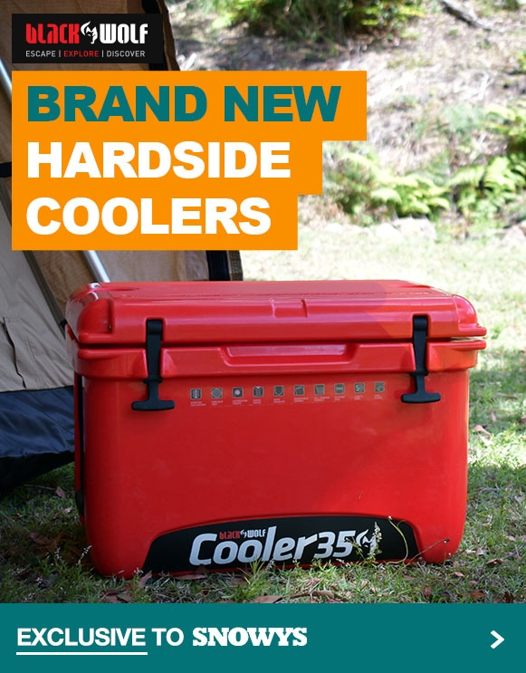 Brand new Black Wolf Hardside Coolers, plus accessories!