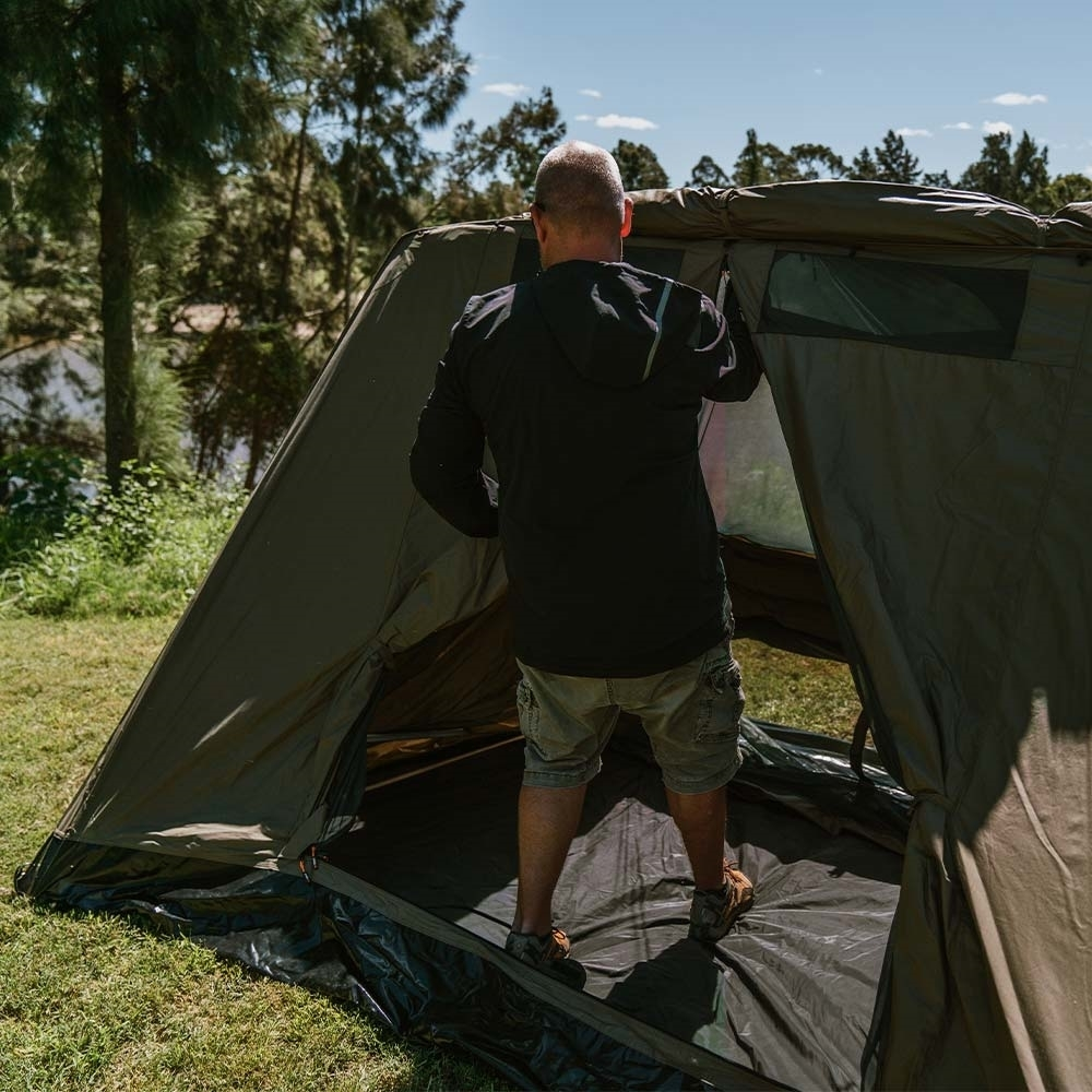 Oztent SV-5 Max Canvas Touring Tent - Easy 30-second frame