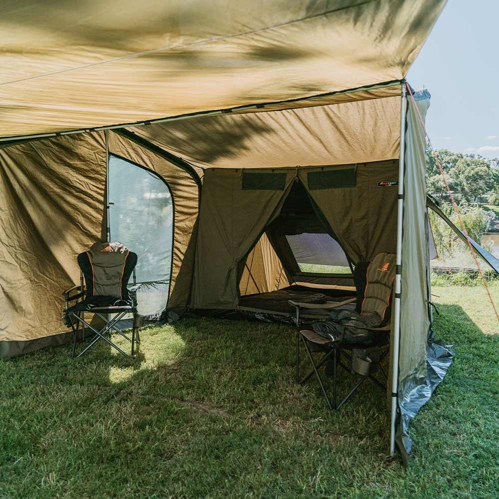 Oztent SV-5 Max Peaked Side Panels - Large protected awning area