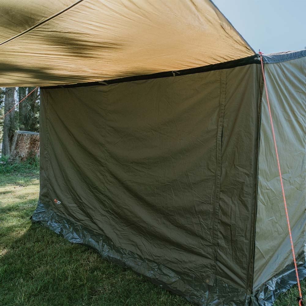Oztent SV-5 Max Front Panel - With tarp extension and closed doors