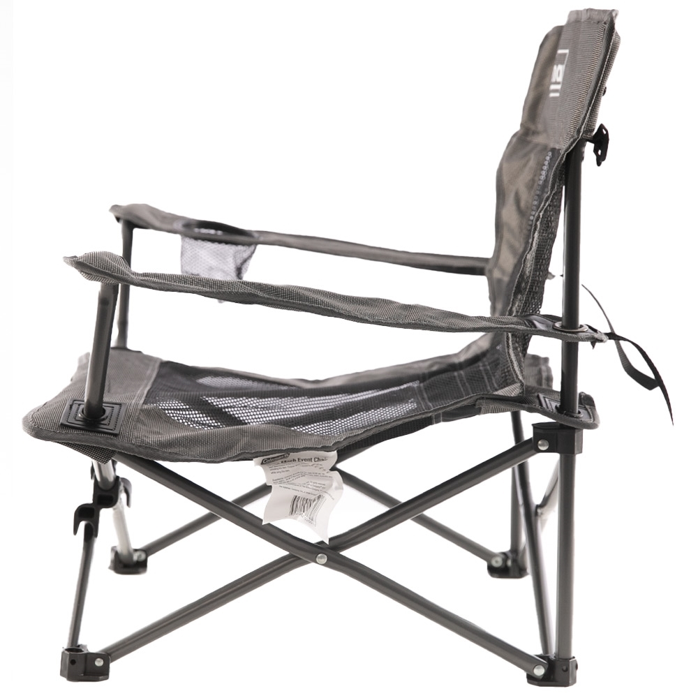 Coleman Deluxe Mesh Event Chair - Side profile