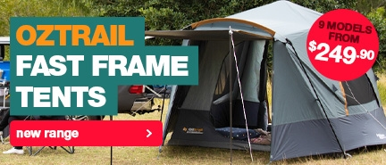 Brand new Oztrail Fast Frame Tents at the lowest prices in Australia!