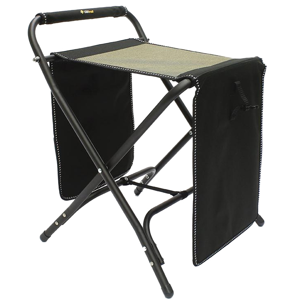 OZtrail RV Travel Mate Camp Stool - Flip down the top table section for a stool or footrest