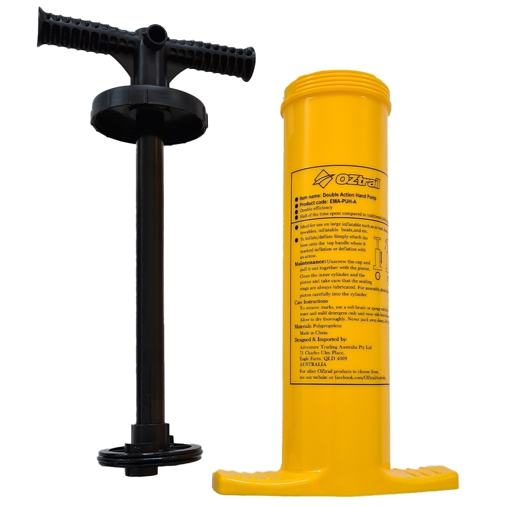 OZtrail Double Action Hand Pump - Large capacity, double action easy hand operation