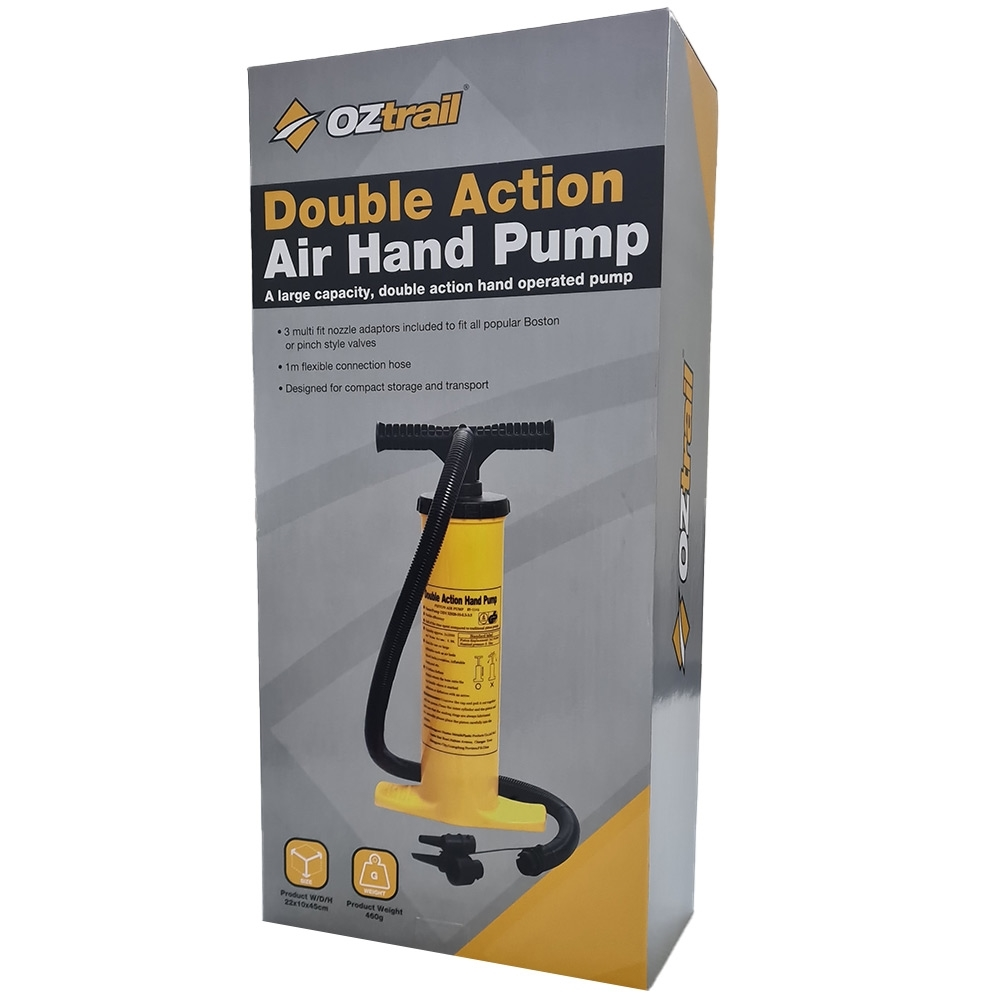 OZtrail Double Action Hand Pump - Packaging