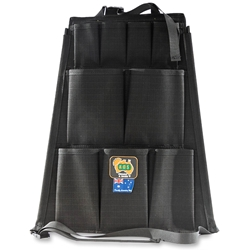 AOS Canvas 12 Pocket Seat Organiser Black