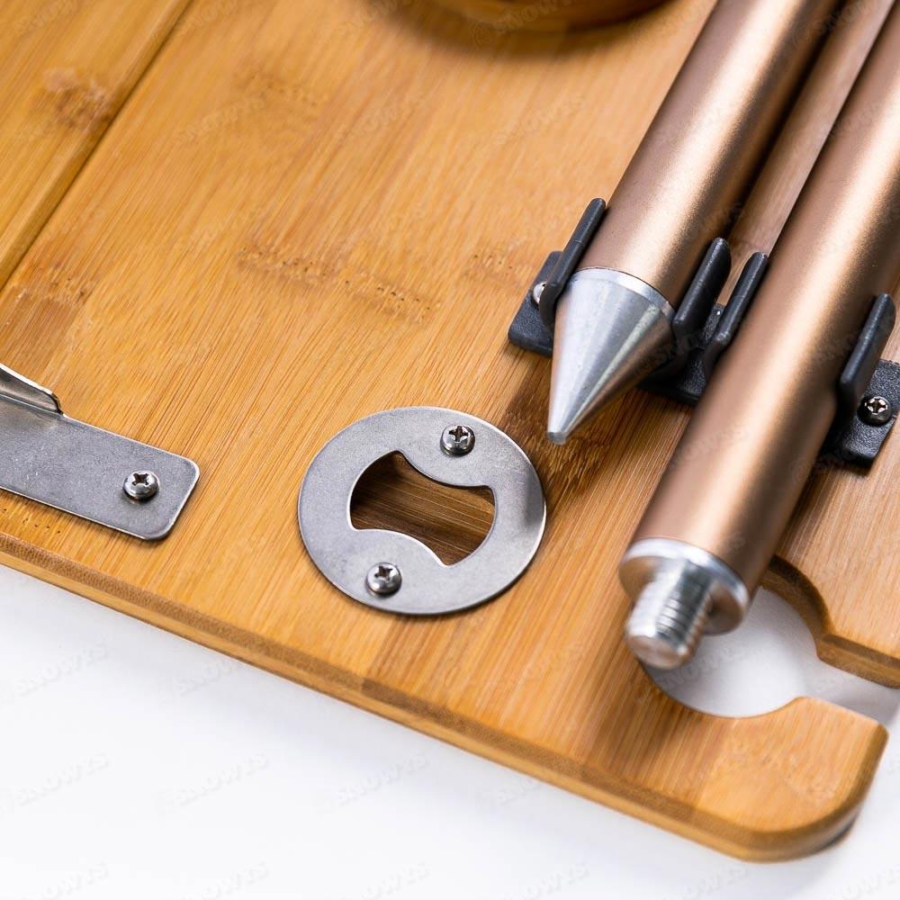 Zempire Kitpac Spike Table - Bottle opener on underside