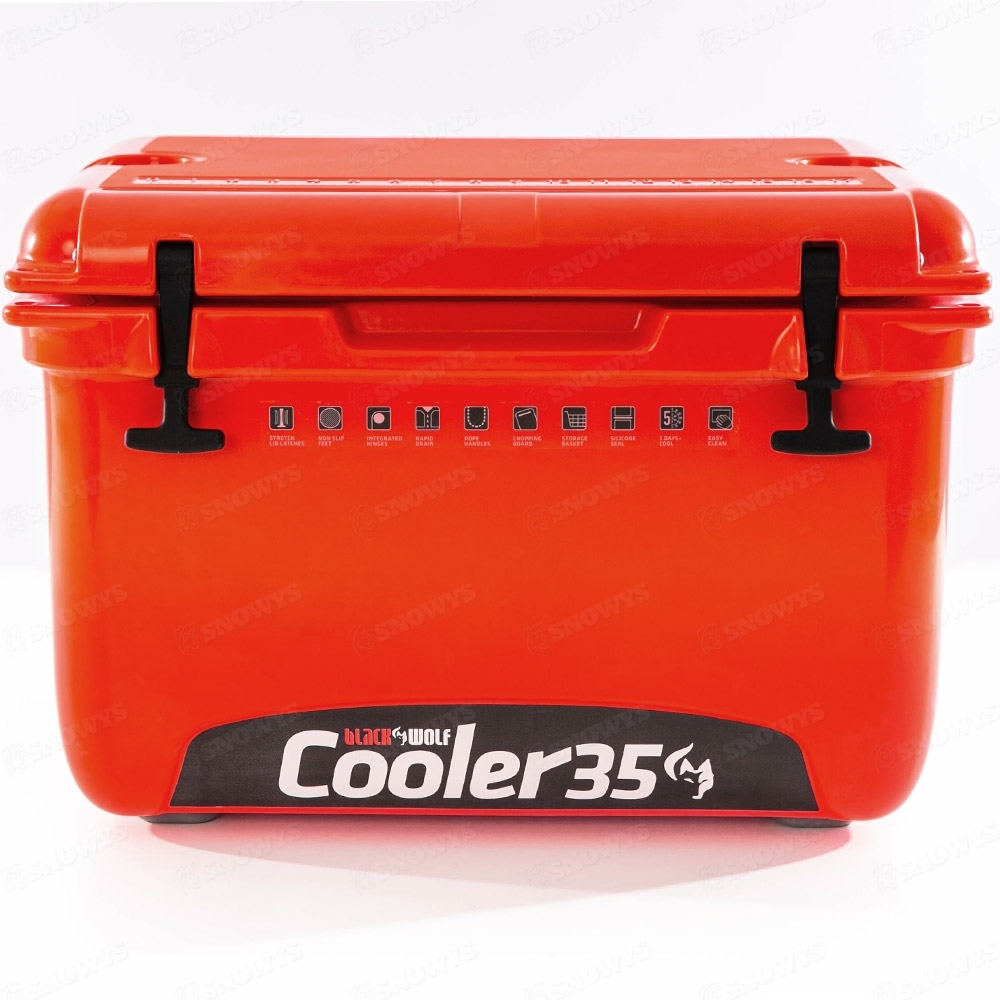 Black Wolf 35 Hardside Cooler Red - Front view