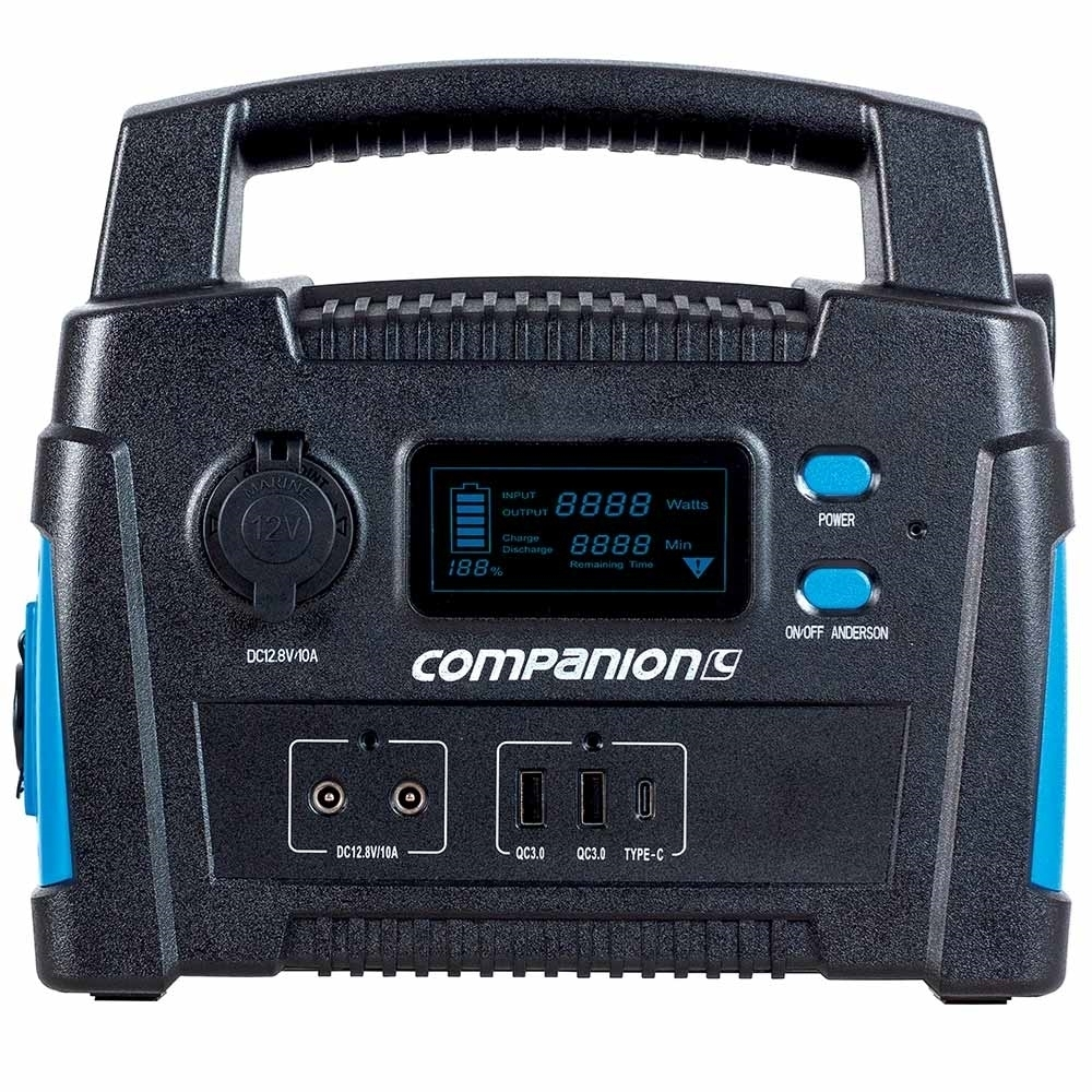 Companion Rover Lithium 40Ah Power Station - Multiple output charging options; 12V socket, USB/USB C, Anderson and 2-pin output