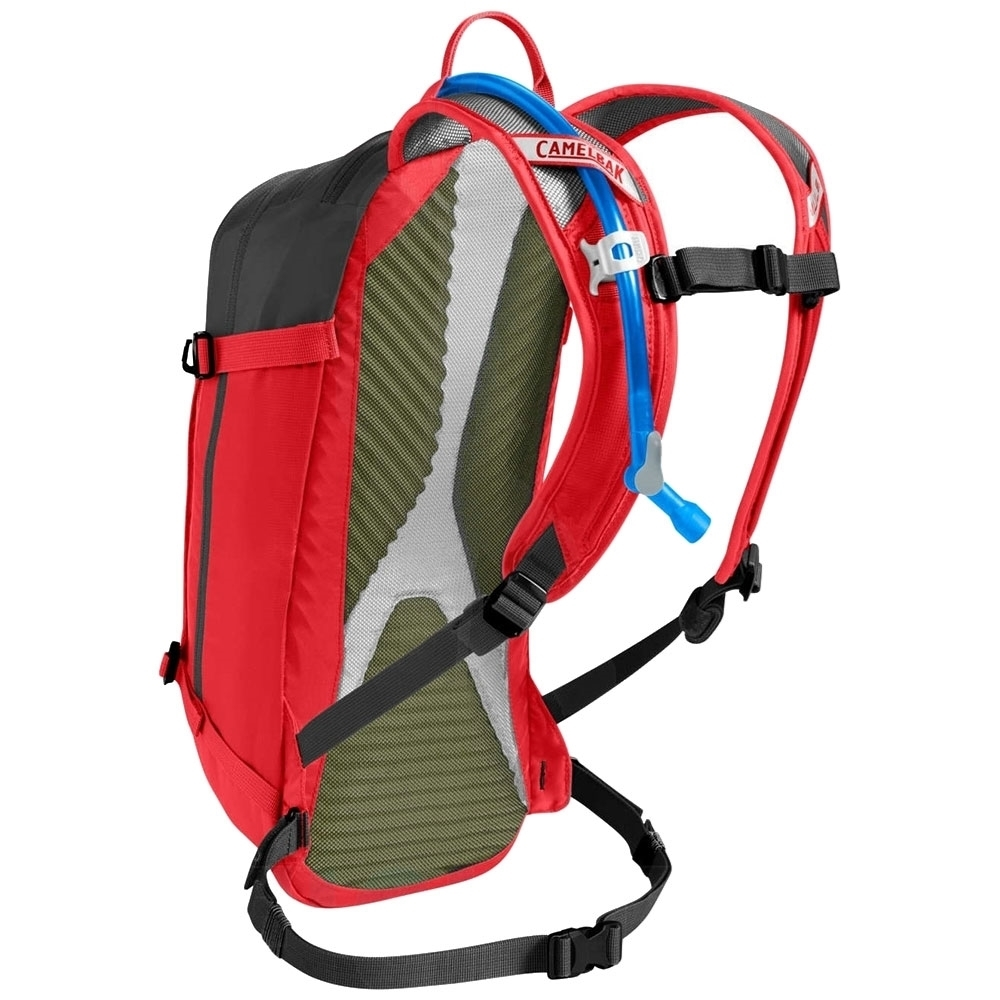 Camelbak M.U.L.E 3L Hydration Pack Racing Red Black - Ventilated Harness: Lightweight and breathable