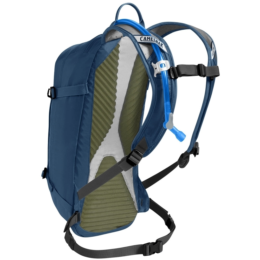 Camelbak M.U.L.E 3L Hydration Pack Gibraltar Navy - Ventilated Harness: Lightweight and breathable