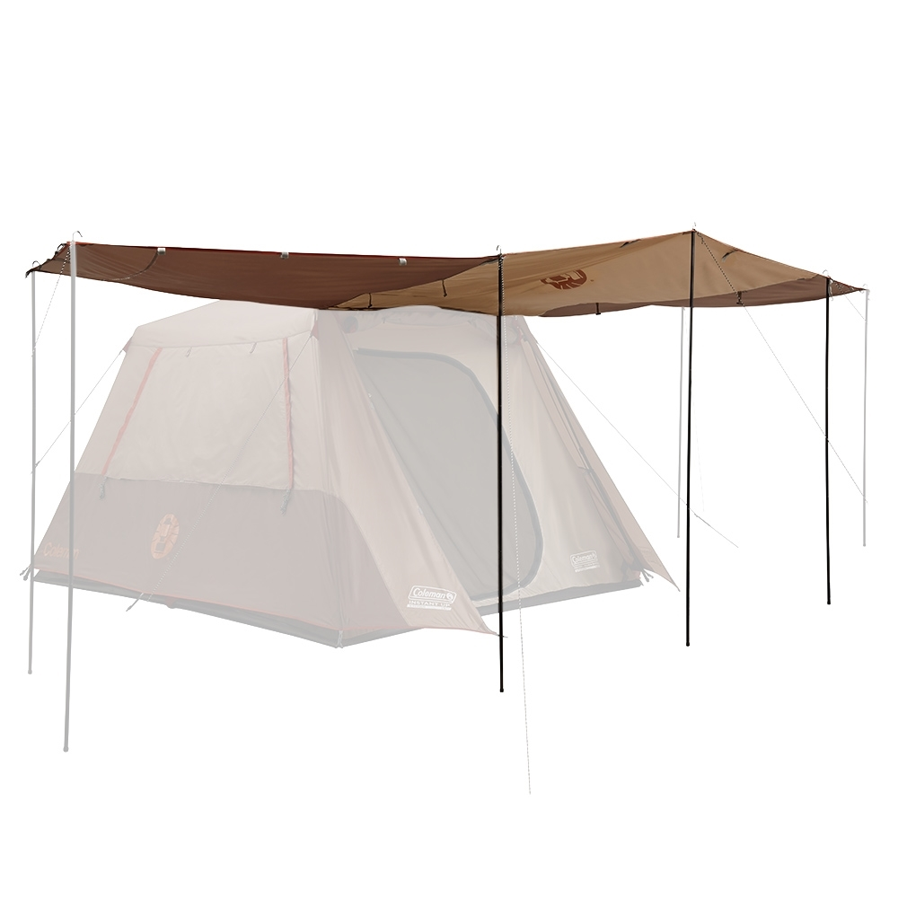 Coleman Instant Up Silver Series Evo Shade Awning - Side walls can double as awnings