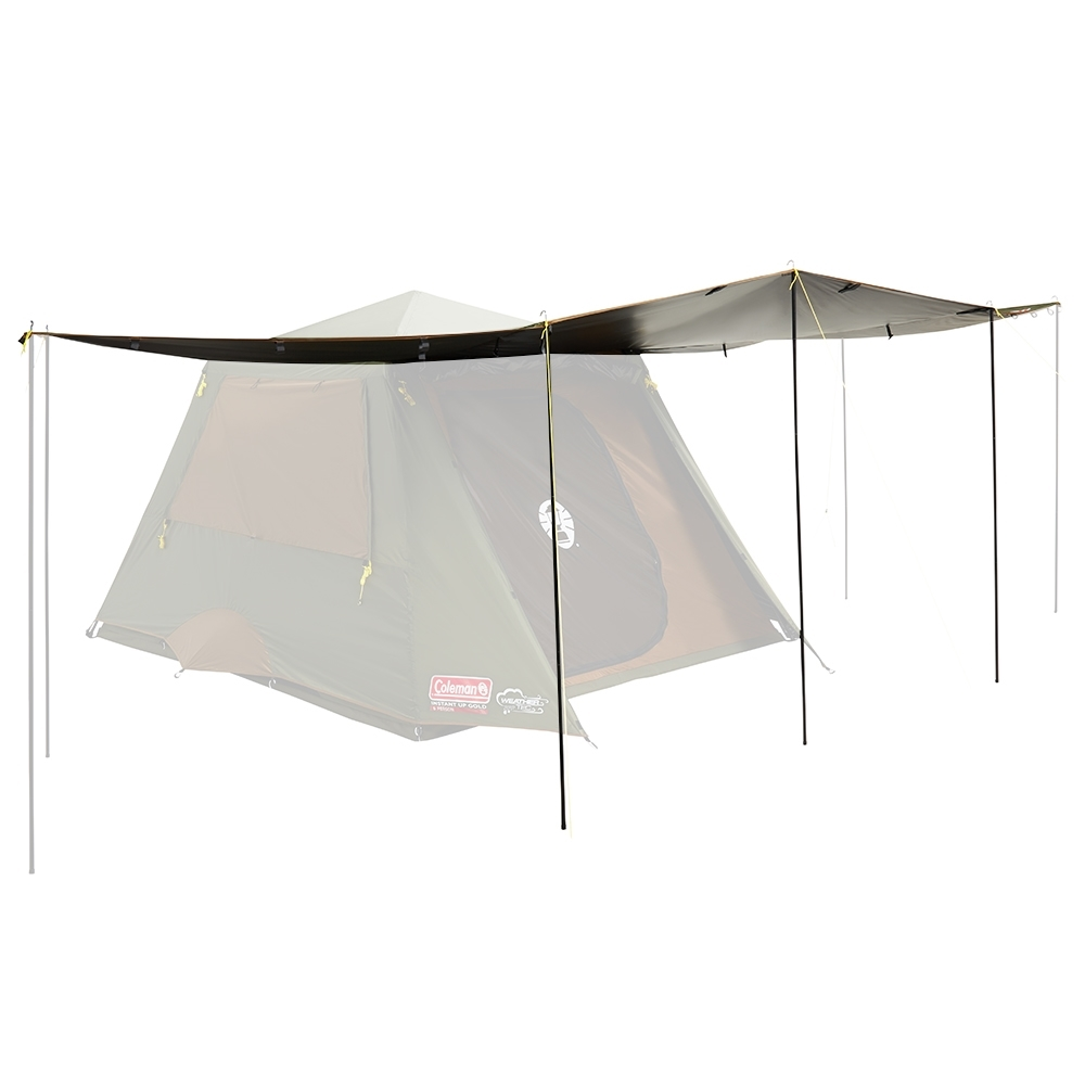 Coleman Instant Up Gold Series Evo Shade Awning with Heat Shield - Walls double as awning extension