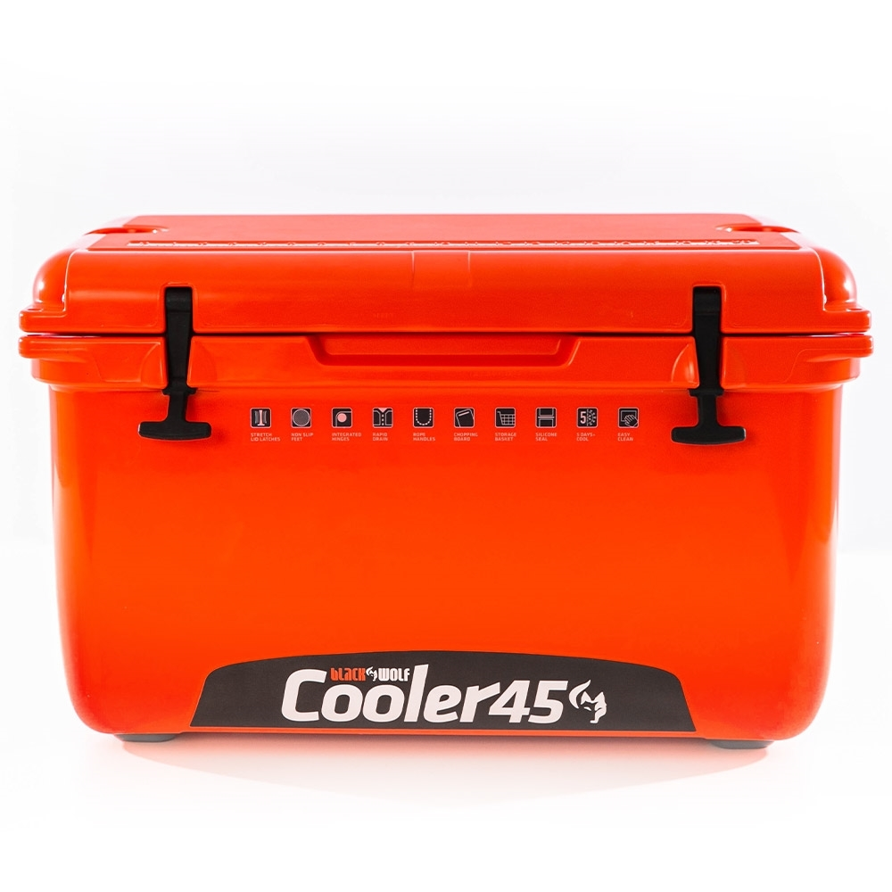 Black Wolf 45 Hardside Cooler - Made from durable, UV-resistant materials
