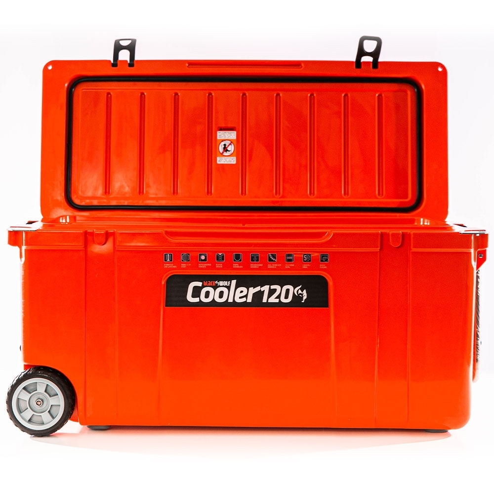 Black Wolf 120 Rolling Cooler - Made from durable, UV-resistant materials