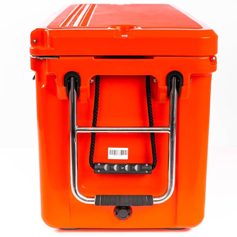 Black Wolf 120 Rolling Cooler - Stainless steel handle allows for cooler to be wheeled along