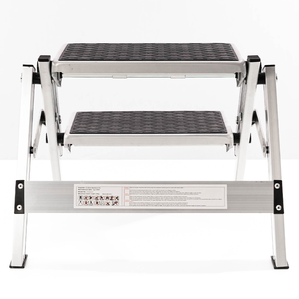 Supex Aluminium Two Stage Folding Step - 150kg weight rating