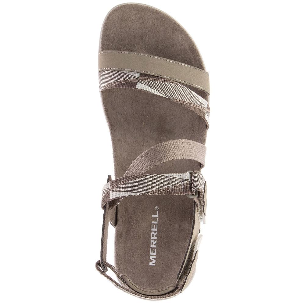 Merrell District Mendi Backstrap Wmn's Sandal Brindle - Microfiber wrapped contoured EVA footbed