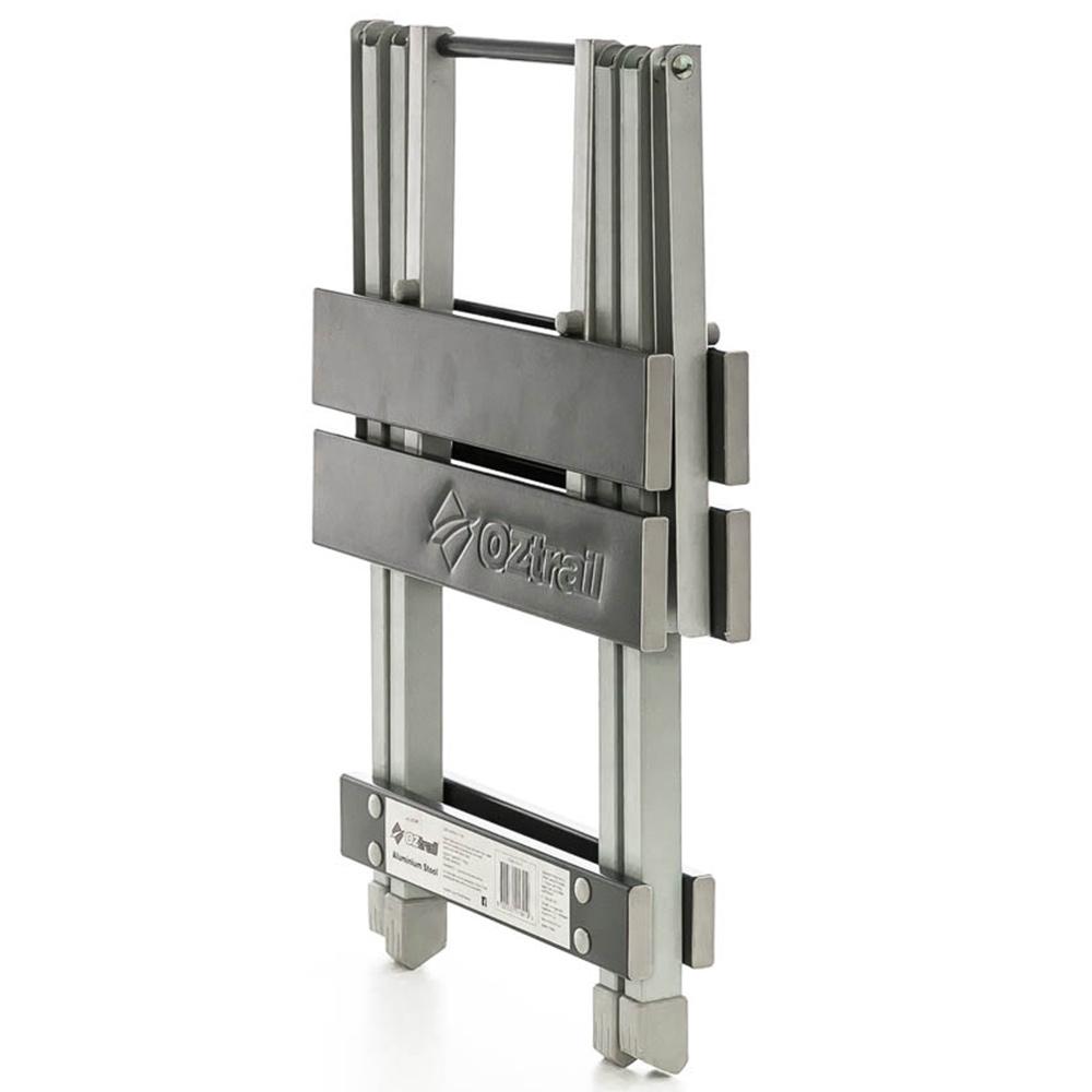 OZtrail Folding Aluminium Stool - Sturdy and compact aluminium frame