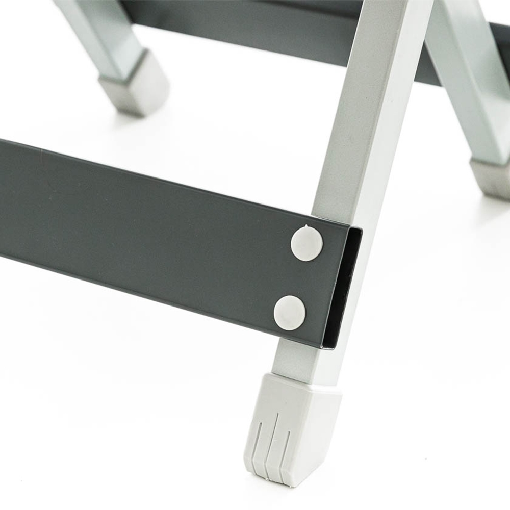 OZtrail Folding Aluminium Stool - Gripped feet to avoid slipping