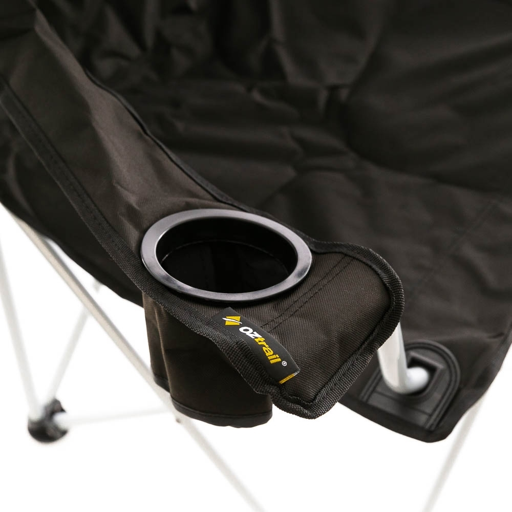 OZtrail Classic Arm Chair - Features a large drink holder in the wide arm rests