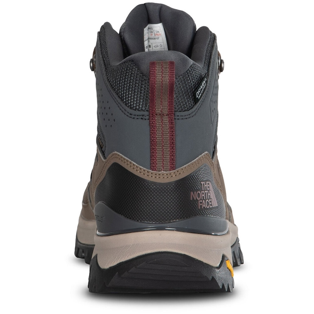 TNF Hedgehog Fastpack II Mid WP Men's Boot Bipartisan Brown Dark Shadow Grey - CRADLE™ heel-stability technology