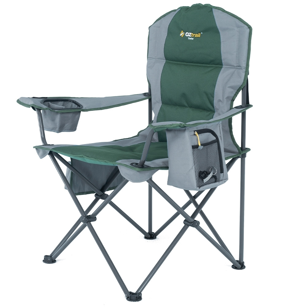 OZtrail Cooler Arm Chair - Zippered insulated compartment