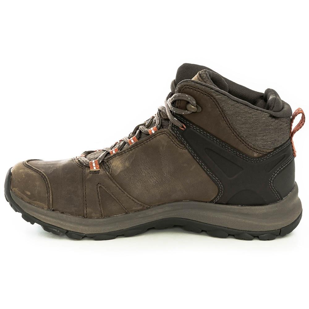 Keen Terradora II Leather WP Mid Wmn's Boot Brindle Redwood - KEEN.ALL TERRAIN rubber outsole