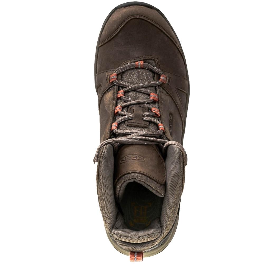 Keen Terradora II Leather WP Mid Wmn's Boot Brindle Redwood - Mesh & premium leather upper